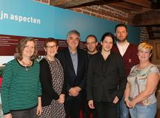 de werkgroep met de toeristische dienst Landen, de voorzitter van de GHK Georges Wemans en schepen Bart Jan De Vos